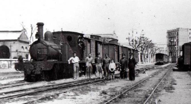 Estación de Valencia-Jesús, linea de Villanueva de Castellón. Archivo Esteban Gonzalo Rogel