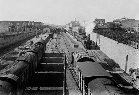 Estacion de Villafranca del Penedes, c.1930, Archivo Roisin. IEFC-ACM-9.14548