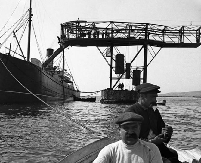 Estacion de descarga de La Pilona, Archivo Municipal de Malgrat de Mar, Fondo Juli Cardona Girons