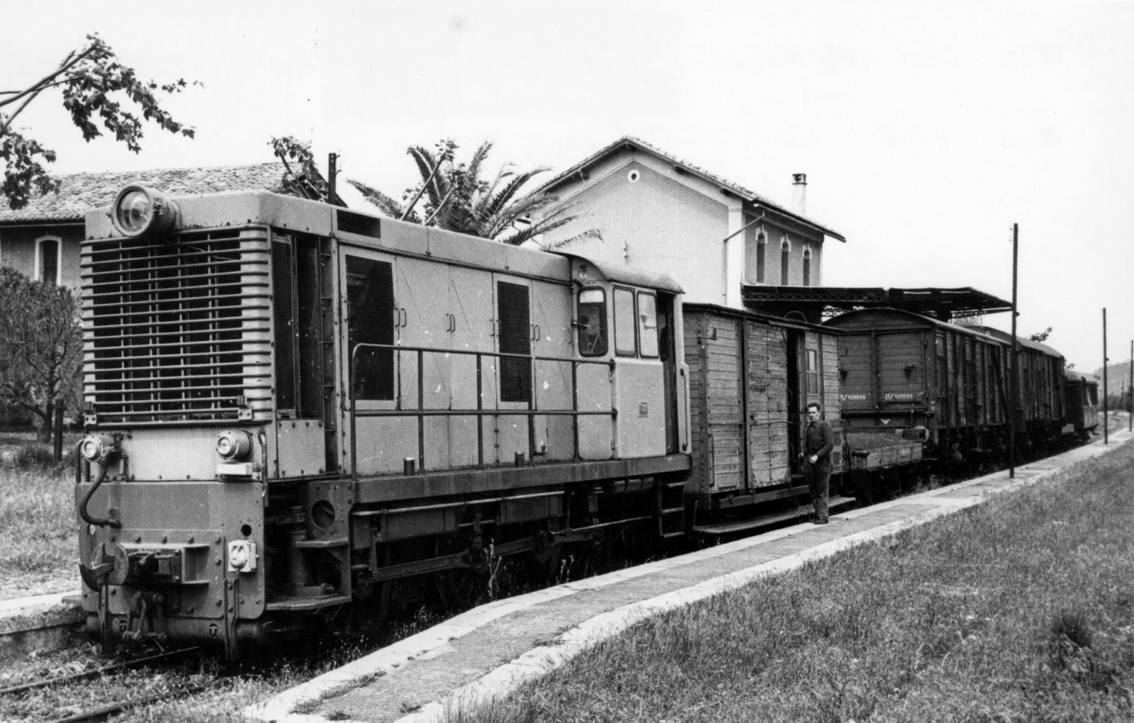 Estacion de la Barraca , año 1963 , foto Vicente Ferrer i Hermenegildo