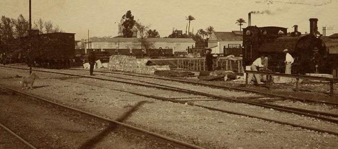 Estacion de tren (Carcagente á Gandia ) Biblioteca Valenciana ,