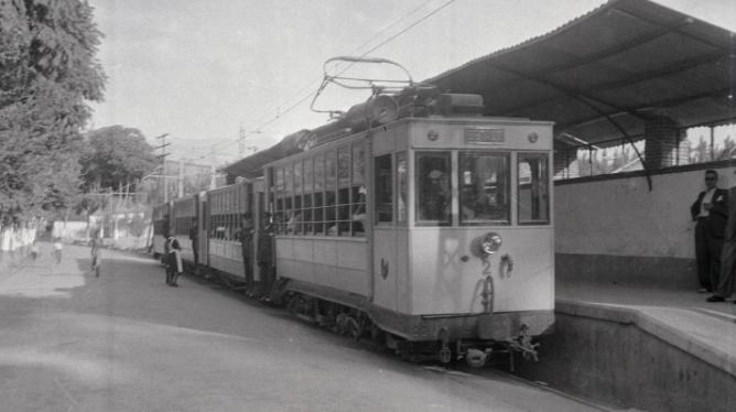 Estacion del Paso de la Bomba en Granada, año 1943, foto Torres Molina