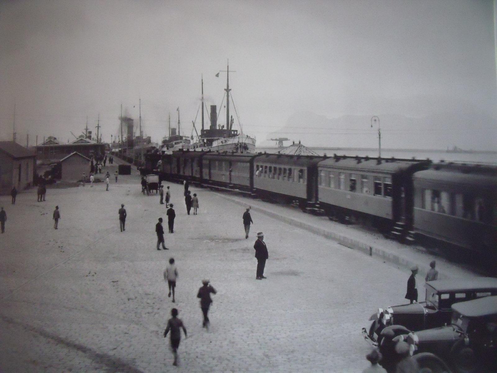 Estacion del Puerto La galera Algeciras , año 1929, foto APBA