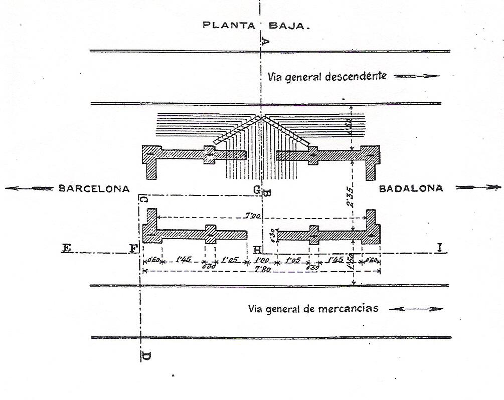 Pueblo Nuevo MZA transmision señales, planta de la caseta de señales, Fondo ROP 1907
