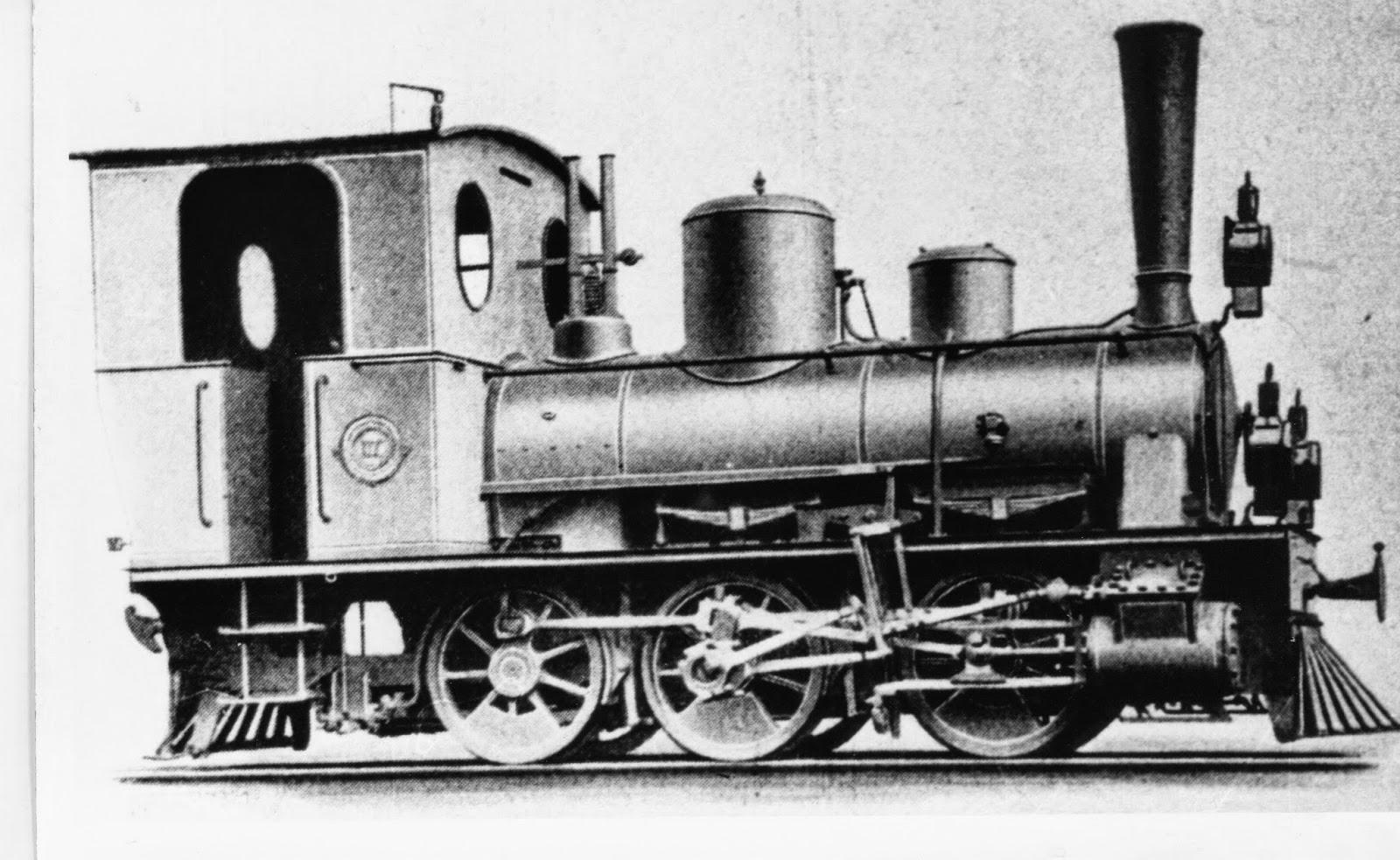 Fc Central de Vizcaya , locomotora Hanomag , fondo Euskotren MVF
