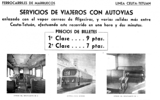 Fc Ceuta a tetuan , anuncio de Julio 1955