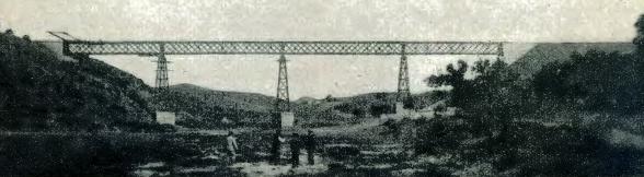 Fc de Aznalcollar al Guadalquivir , viaducto sobre el rio Crispinejos