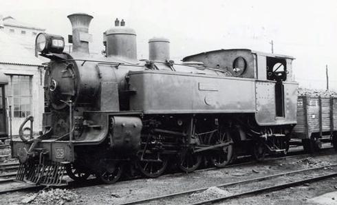 Fc. Económicos de Asturias, locomotora nº 29, foto Lawrence G. Marshall