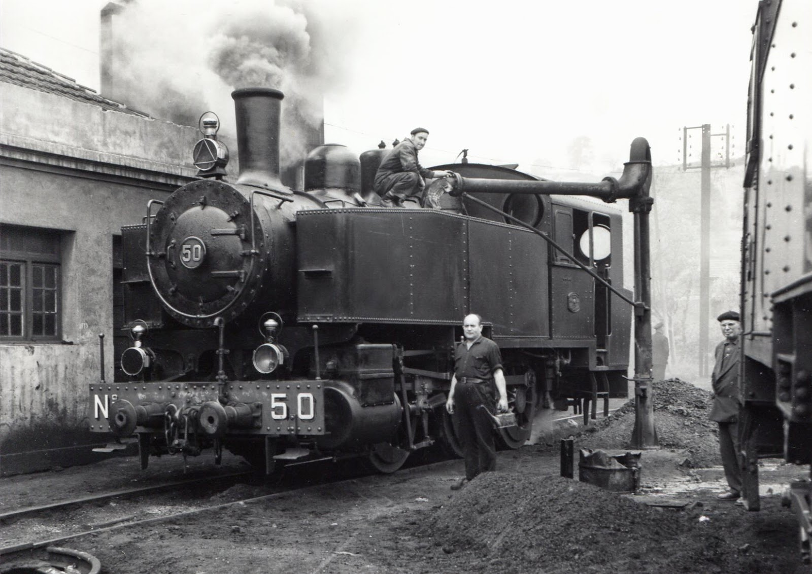 Ferrocarril de Langreo, foto Lawrence Marshall, fondo MVF