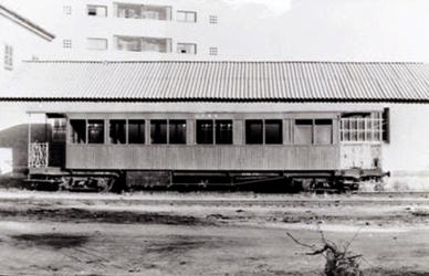 Ferrocarril de Madrid a Almorox, coche unificado, foto Juan Bta Cabera, fondo MVF-Euskotren