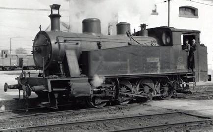 Ferrocarril de Triano , locomotora CIERVANA , foto Lawrwnce G. Marshall
