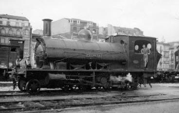 Ferrocarril de Triano , locomotora PUCHETA, archivo MVF