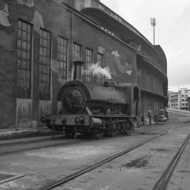 Ferrocarril de Triano, locomotora Santurce en Pasajes, foto Xavier Santamaria