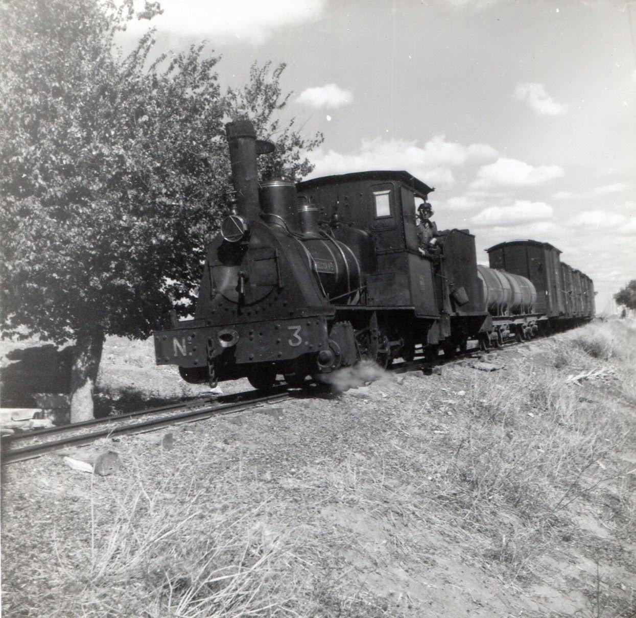 Ferrocarril de Valdepeñas a Ciudad Real Foto Martin Von Simson , fondo MVF