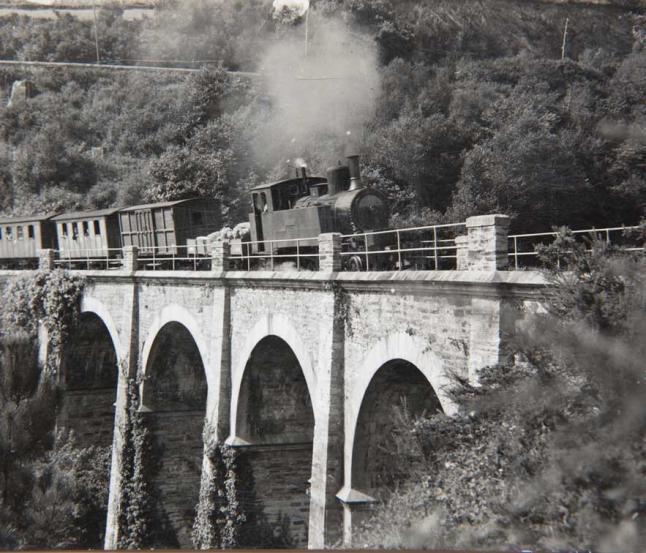 Ferrocarril de Vilaodrid, puente da Viña en Ribadeo