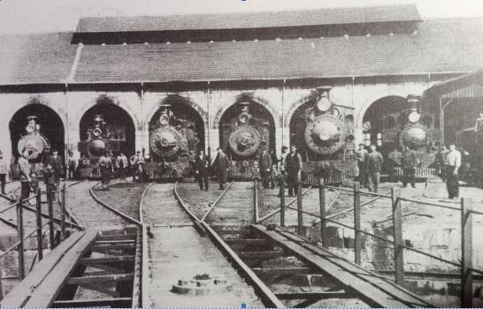 Ferrocarril de la Robla, deposito de locomotoras, imagen F.Pardo