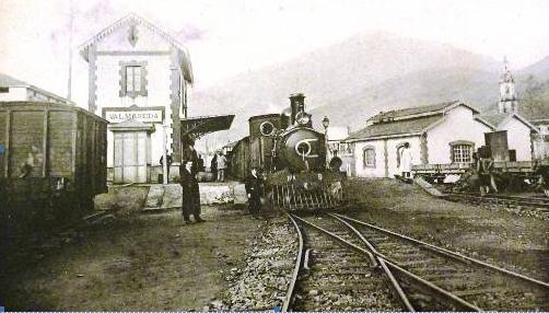 Ferrocarrildel Cadagua, Balmaseda c 1891. archivo Museo Vasco del Ferrocarril