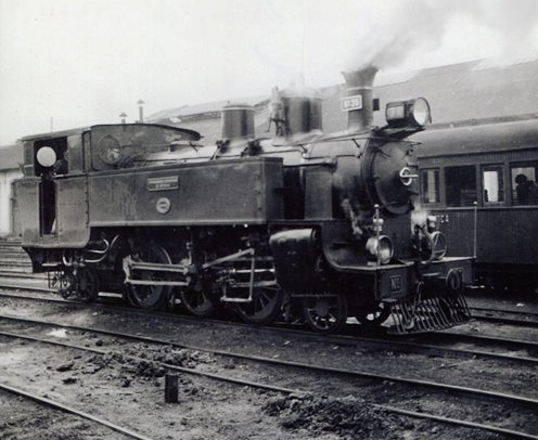 Ferrocarriles Económicos de Asturias, locomotora nº 35, foto Martin von Simson , archivo Euskotren , MVF