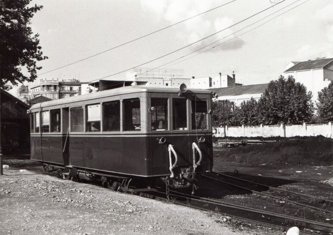 Ferrocarriles de Mallorca , automotor CF. Dion Bouton, fondo MVF, Euskotren