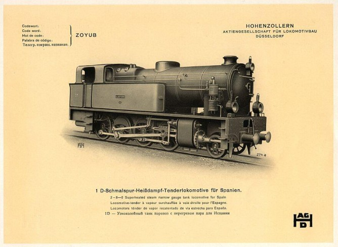Foto de Fábrica de Hohenzollern , locomotora de Fc de Tharsis