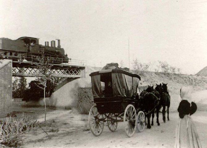 Estacion de Gador - año 1900 , foto Enrique Paniagua