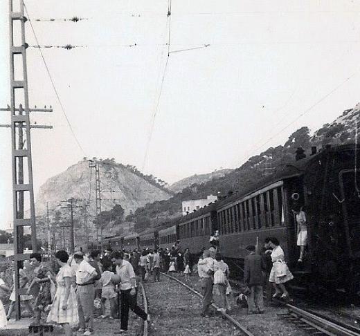Garraf, estación , archivo familia Miñarro Aosta