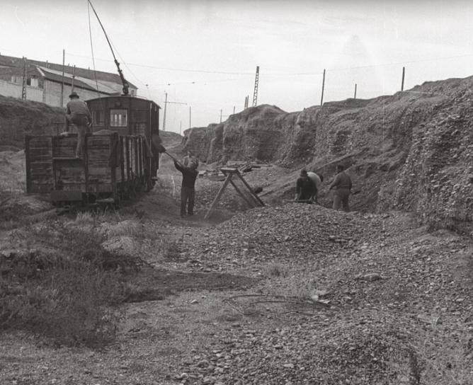 Gravera de Churriana , 02.09.1971 , foto Juan Antonio Tartajo