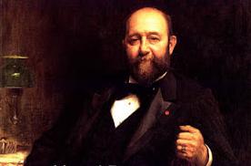 Herny Burnay , conde de Burnay , presidente del Consejo del Ferrocarruil de Medina del Campo a Salamanca
