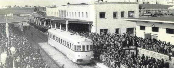 Inauguracion de la nueva estación de Cáceres el 26 de marzo de 1963, archivo municipal de Cáceres