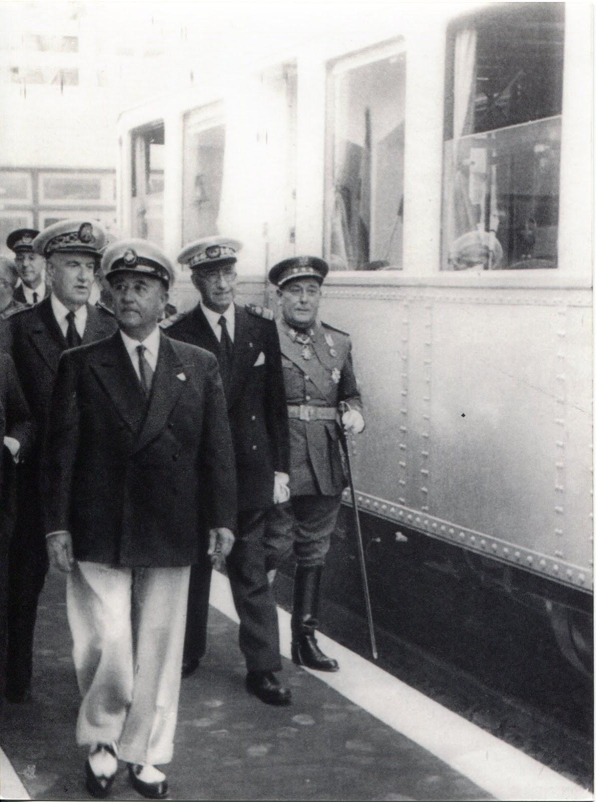 Inauguracion por Franco, el 16 de agosto de 1955 de la prolongacion hasta Bermeo