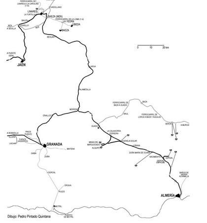 Itinerario de Linares á Almeria , dibujo Pedro Pintado Quintana
