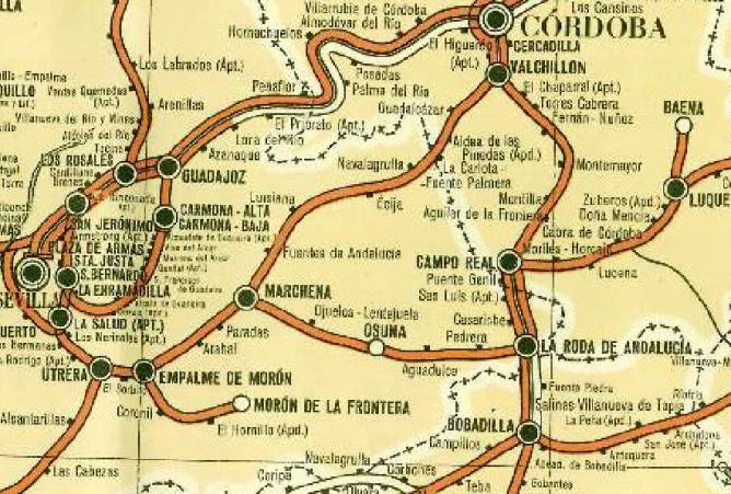 Itinerario de Marchena a Valchillon (Córdoba)