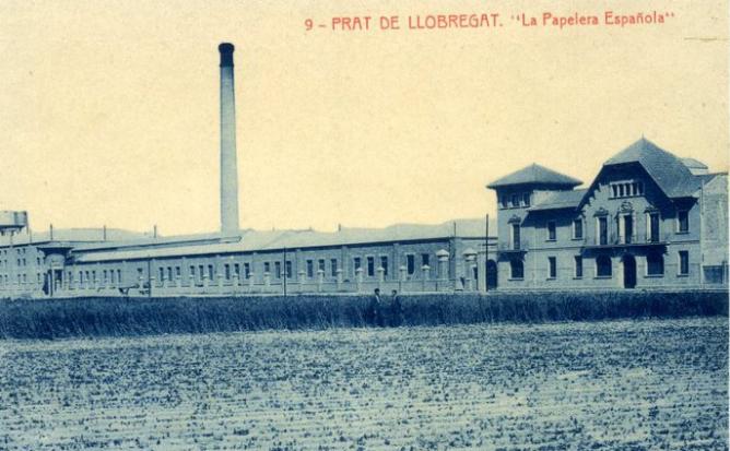 La Papelera Española factoria del Pratde Llobregat. Posal comercial