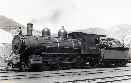 La Robla, locomotora Waldwin 1.4.1 ,foto Lawrence Marshall