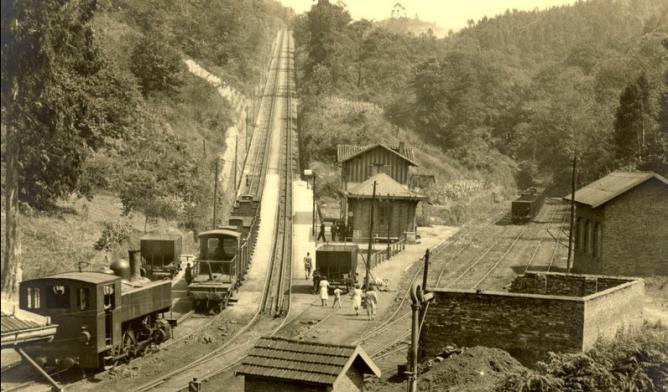 Langreo, plano inclinado , fondo Museo del Ferrocarril de Asturias