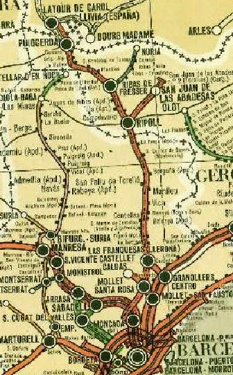 Linea de Barcelona á Martorell y San Juan de las Abadesas