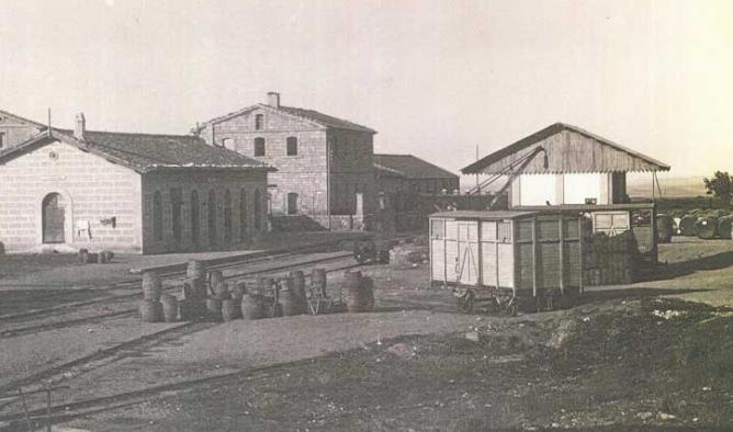Linea de Cariñena a Zaragoza, estación de Cariñena.Autor desconocido