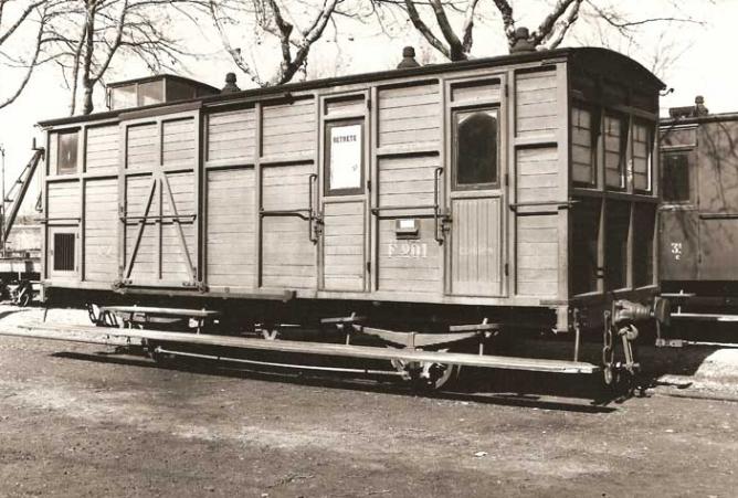 Linea de Cariñena a Zaragoza, furgón de servicio