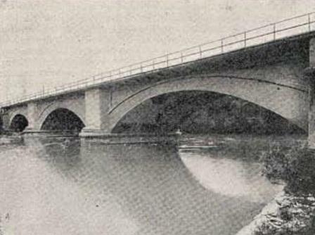 Linea de Castejon a Bilbao , año 1925, puente de Iberlanda , PK 233,083, revista I. y C.