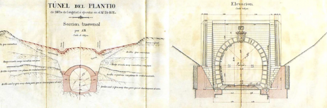 Linea de Linares a Puente Genil, Tunel del Plantio, año 1875, AHF-0002-008