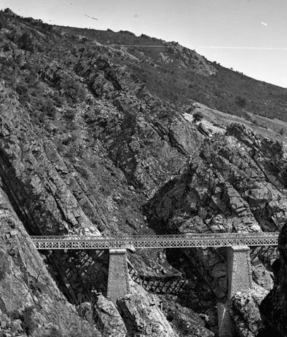 Linea de Madrid á Córdoba, viaducto de Despeñaperros, archivo R. Vernacci, Fondo Fototeca del P.H.