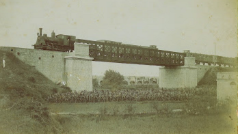 Linea de Valencia a Liria (Valencia á Aragon) , puente del Aigua, archivo Jose Maria Moreno Royo