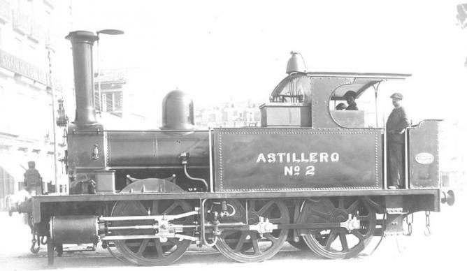 Locomotora Astillero nº 2, JOP de Santander