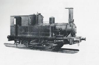 Locomotora Aujubault 020T del Zaragoza á Escatron, Archivo Album Motor de Renfe