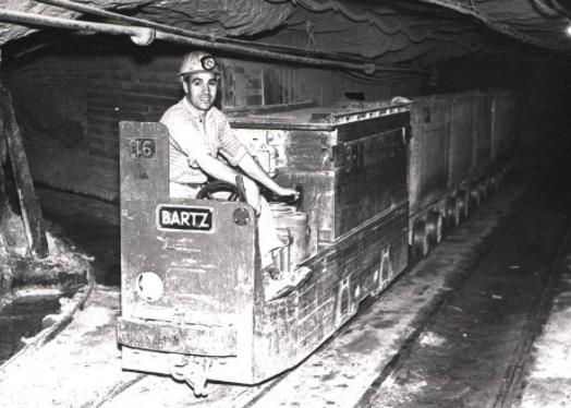 Locomotora Bartz de Minas de Potasa de Suria. Foto Archivo Iberposah