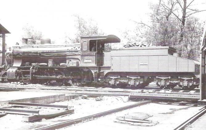 Locomotora Hartmann 040-2323 (ex Oeste de España 809- año 1921), en Zaragoza Campo Sepulcro c. 1960