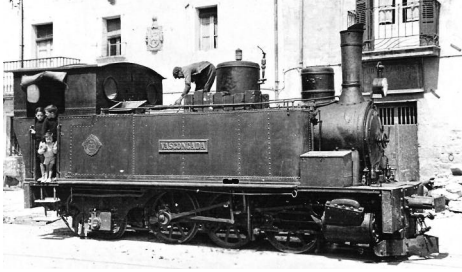 Locomotora La Vascongada , archivo Lutini
