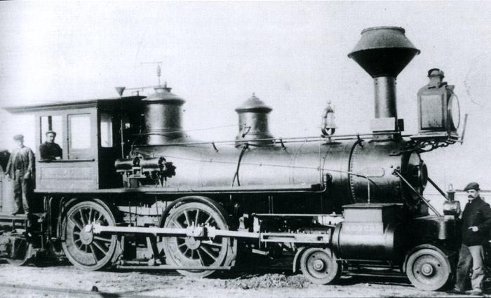 Locomotora MZA nº 31 ex nº 63 del Valls a Vilanova y Barcelona . Archivo Miquel Paloy