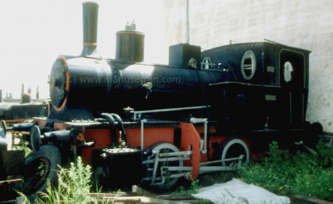 Locomotora Maffei, Azucarera Leopoldo. Foto Rafael Bravo Jimenez, archivo Manu Serrano