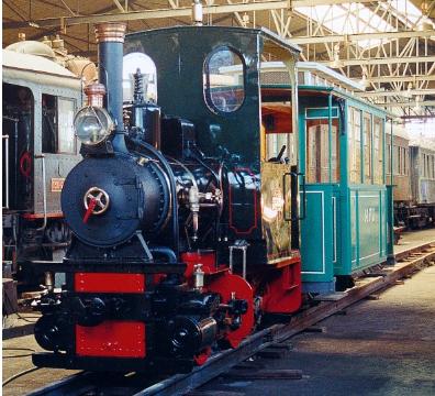 Locomotora Max Orenstein de 600 mm restaurada, foto Jordi Comella